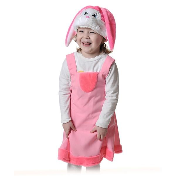 Карнавальный костюм Зайка розовая k2067