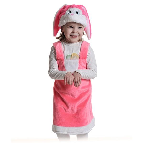 Карнавальный костюм Зайка розовая k3067