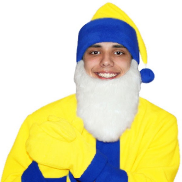 Карнавальная шапка Гнома с бородой арт KB-15js