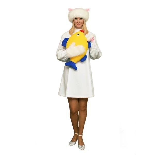 Карнавальный костюм Белая кошка арт KKVd-2b
