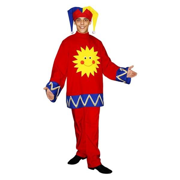 Карнавальный костюм Скоморох Красно Солнышко арт KKVm-8-28k-s