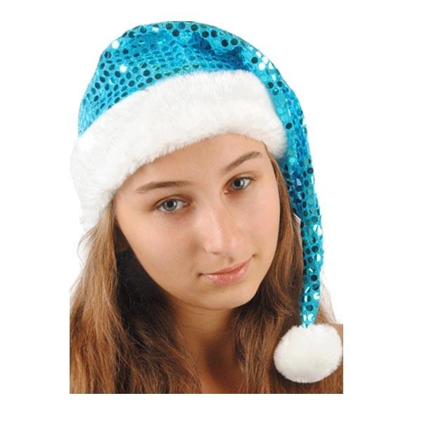 Колпак новогодний из парчи (голубой) арт. 109001007