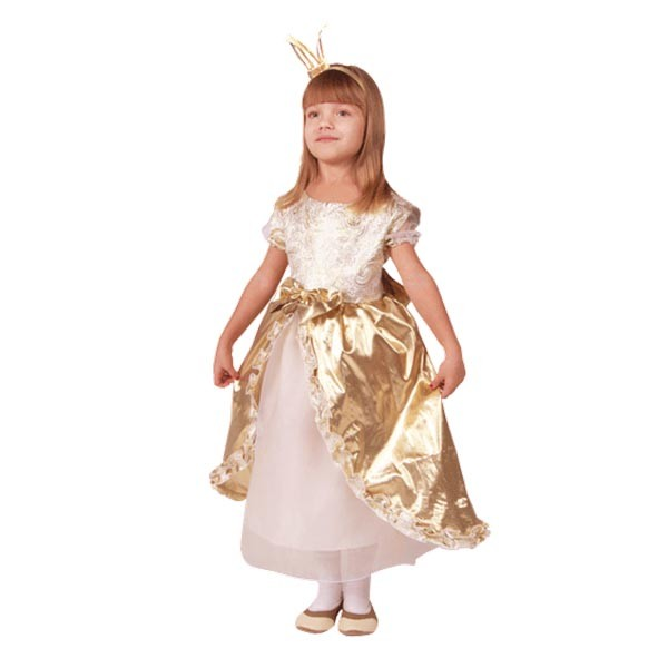Карнавальный костюм Принцесса Золотая Люкс арт. 102 049 104