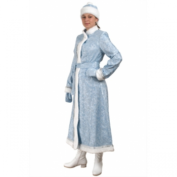 Снегурочка длинная приталенная сантун голубой