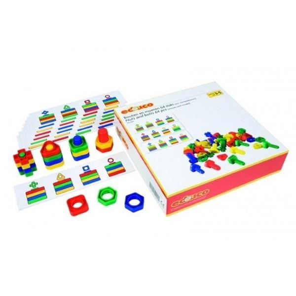 Детская развивающая настольная игра «Болты и гайки» арт. 523055