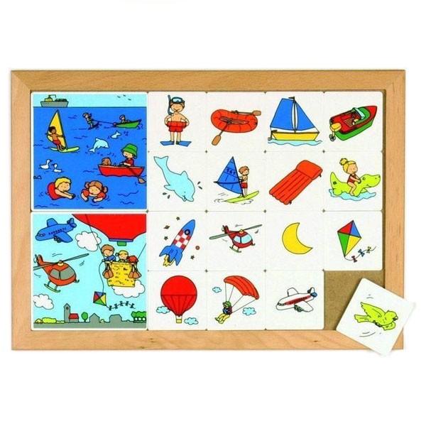 Детская развивающая настольная игра Деление на категории «В воде и в воздухе» арт. 522921