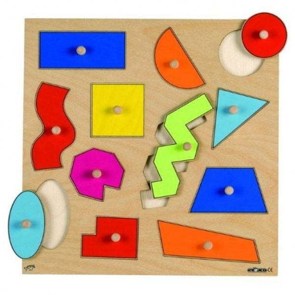 Детская развивающая игра  пазл-вкладыш «Геометрические фигуры» арт. 522926