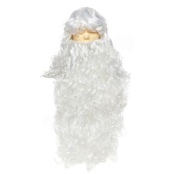 Комплект парик с бородой для Деда Мороза PB-2